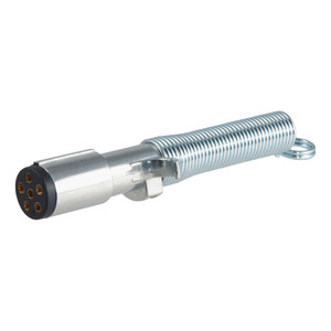 CURT 6-Way Round Connector Plug with Spring (Trailer Side, Packaged) #58083