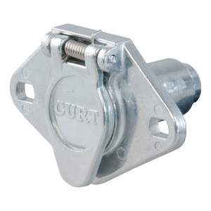 CURT 6-Way Round Connector Socket (Vehicle Side, Packaged) #58091