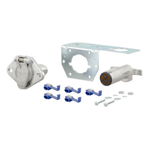 CURT 6-Way Round Connector Plug & Socket with Hardware (Packaged) #58093