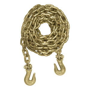 CURT 20' Transport Binder Safety Chain with 2 Clevis Hooks (26,400 lbs., Yellow Zinc) #80311