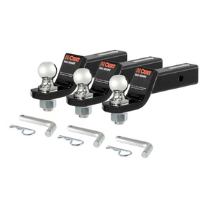"CURT Loaded Ball Mounts with 1-7/8"" Balls (2"" Shank, 3,500 lbs., 2"" Drop, 3-Pack) #45035"