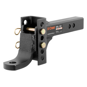 """CURT Adjustable Channel Mount with 1"""" Ball Hole (2"""" Shank, 6,000 lbs., 6-3/4"""" Drop) #45901"""