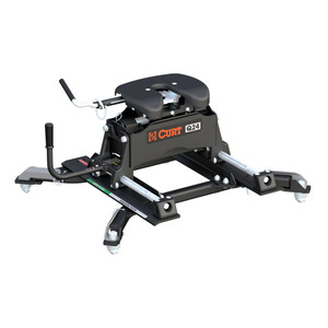 CURT Q24 5th Wheel Hitch with Roller and Ram Puck System Adapter #16688