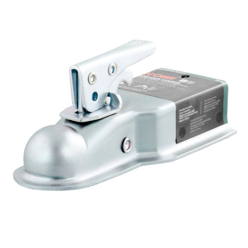 """CURT 1-7/8"""" Straight-Tongue Coupler with Posi-Lock (3"""" Channel, 2,000 lbs., Zinc) #25131"""