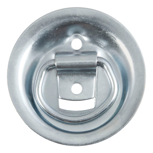 "CURT 1-1/8"" x 1-5/8"" Recessed Tie-Down Ring (1,000 lbs., Clear Zinc) #83710"