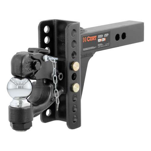 """CURT Adjustable Channel Mount with 2-5/16"""" Ball & Pintle (2"""" Shank, 13,000 lbs.) #45907"""
