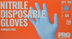 ProChoice Disposable Nitrile Gloves Blue Powder Free