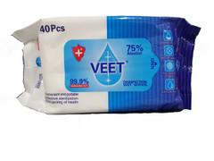 Veet Disinfectant Alcohol Wet Wipes 40pk