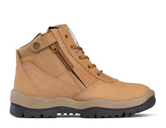 Victor Mongrel Safety Boot Zip Sided Wheat