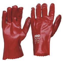 27cm Red PVC Gloves (Pair)
