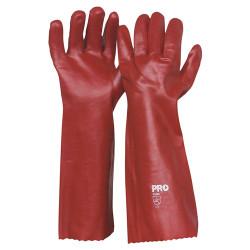 45cm Red PVC Gloves (Pair)