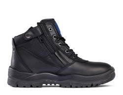 Victor Mongrel Safety Boots Zip Sided Black