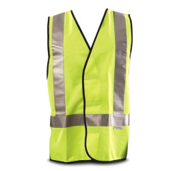 WorkIt Fluro Yellow H-Back Day/Night Safety Vest