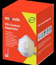 Maxisafe Conical Respirator P2 Valved - 10 PCS