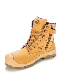 Puma Conquest Zip Sided Safety Boot Wheat