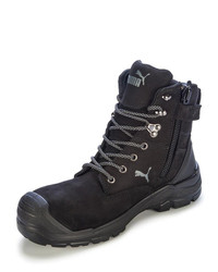 Puma Conquest Zip Sided Safety Boot Black