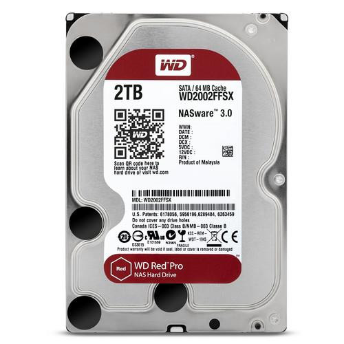 "WD Red Pro WD2002FFSX 2 TB Hard Drive - SATA - 3.5"" Drive - Internal"