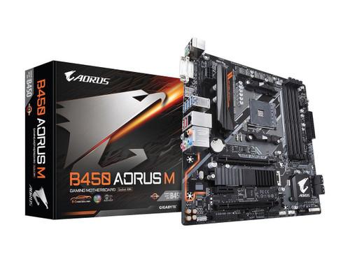 Gigabyte Aorus Ultra Durable B450 AORUS M Desktop Motherboard - AMD Chipset - Socket AM4