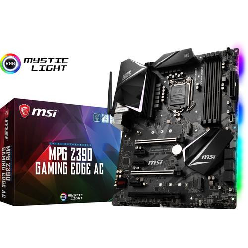 MSI MPG Z390 GAMING EDGE AC Desktop Motherboard - Intel Chipset - Socket H4 LGA-1151