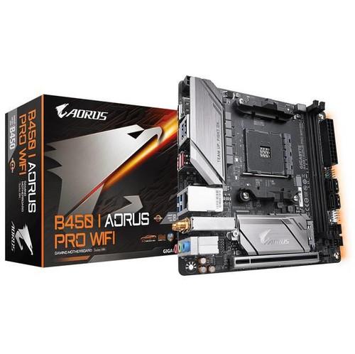 Aorus Ultra Durable B450 I AORUS PRO WIFI Desktop Motherboard - AMD Chipset - Socket AM4