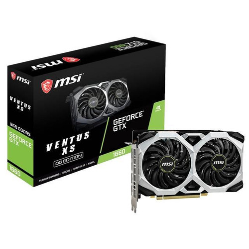 MSI VENTUS XS 6G OC GeForce GTX 1660 Graphic Card - 1.83 GHz Boost Clock - 6 GB GDDR5