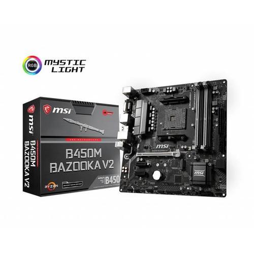 MSI B450M BAZOOKA V2 Desktop Motherboard - AMD Chipset - Socket AM4