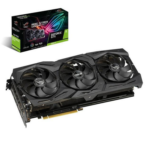ROG Strix ROG-STRIX-GTX1660TI-A6G-GAMING GeForce GTX 1660 Ti Graphic Card - 1.53 GHz Core - 1.83 GHz Boost Clock - 6 GB GDDR6