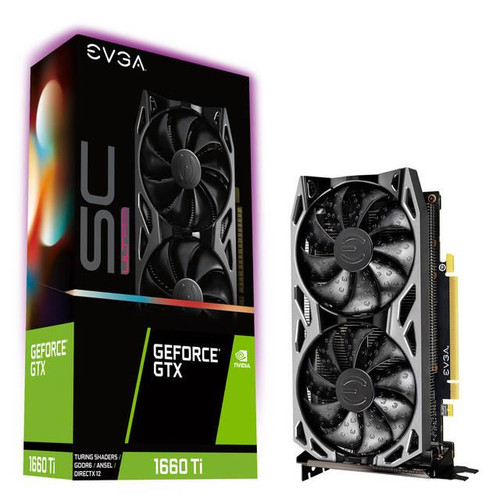EVGA NVIDIA GeForce GTX 06G-P4-1667-KR 1660 Ti SC ULTRA GAMING 6GB GDDR5 DVI/HDMI/DisplayPort PCI-Express Video
