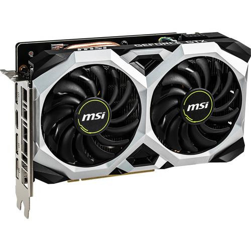 MSI NVIDIA GeForce GTX 1660 Ti VENTUS XS 6GB GDDR6 G1660TVXS6 HDMI/3DisplayPort PCI-Express Video Card