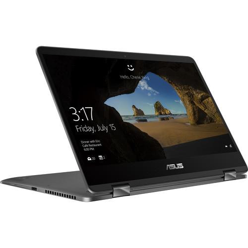 "Asus ZenBook Flip 14 UX461FA-DH51T 14"" Touchscreen Laptop (1.60 GHz Intel Core-i5-8265U, 8 GB DDR4 SDRAM, 256 GB SSD, Windows 10 Home)"