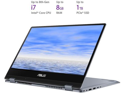 "Asus VivoBook Flip 14 TP412UA-DB51T 14"" Touchscreen Laptop (1.60 GHz Intel Core-i5-8250U, 8 GB DDR4 SDRAM, 256 GB SSD, Windows 10 Home)"