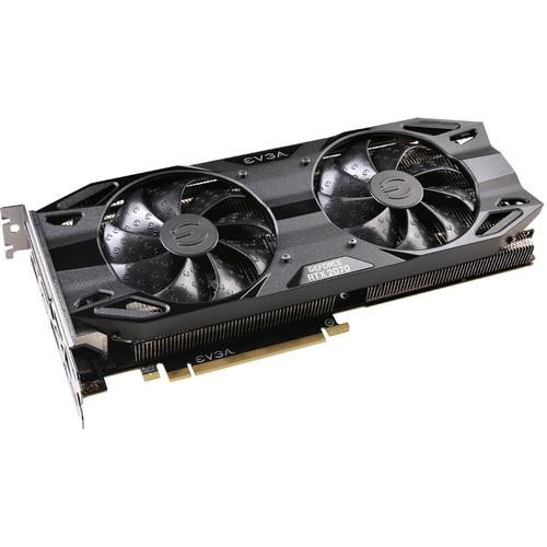 EVGA NVIDIA GeForce RTX 2070 XC BLACK EDITION GAMING 8GB GDDR6 HDMI/3DisplayPort/USB Type-C PCI-Express Video Card w/ RGB LED