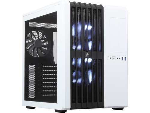 Corsair Carbide Series Air 540 (CC-9011048-WW) Arctic White Steel High Airflow ATX Cube Case