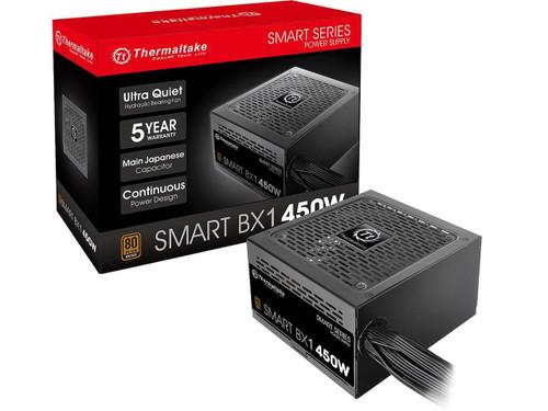 Thermaltake Smart BX1 450W Bronze SLI/ CrossFire Ready Continuous Power ATX12V V2.3/ EPS V2.92 80 Plus Bronze Certified Non Modular Power Supply PS-SPD-0450NNFABU-1
