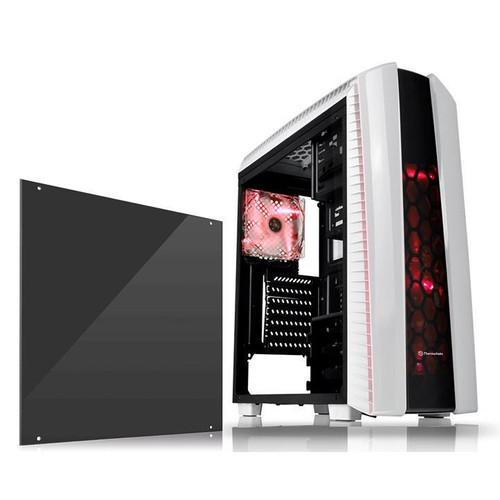 Thermaltake Versa N27 CA-1H6-00M6WN-02 Snow 3X Red LED Fan Computer Case