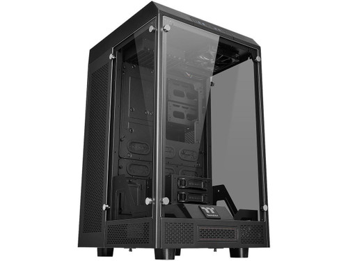 Thermaltake Tower 900 Black Tempered Glass Fully Modular E-ATX Vertical Super Tower Chassis CA-1H1-00F1WN-00