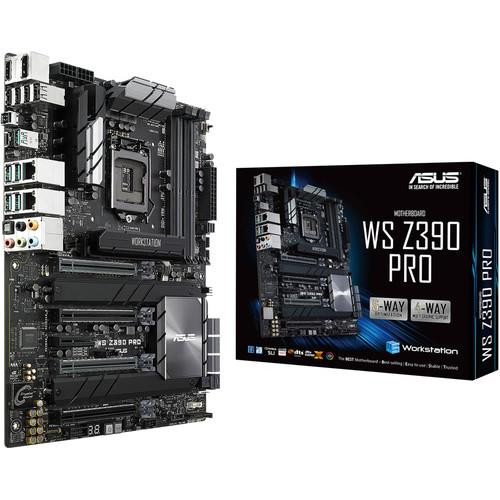Asus WS Z390 PRO LGA1151/ Intel Z390/ DDR4/ SATA3&USB3.1/ M.2&U.2/ A&GbE/ ATX Motherboard