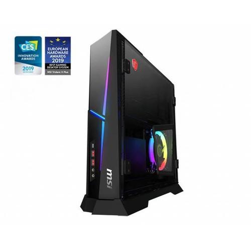 MSI Trident X Plus 9SE-465US Desktop (3.6 GHz Intel Core-i9-9900KF, 16 GB DDR4 SDRAM, 2TB HDD, 1 TB SSD, Windows 10 Pro)