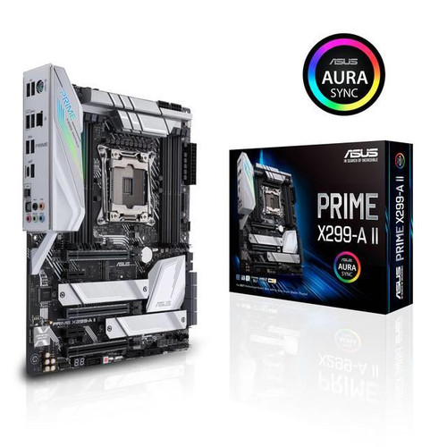 Asus Prime X299-A II Desktop Motherboard - Intel Chipset - Socket R4 LGA-2066