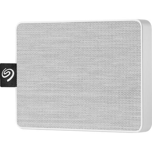 "Seagate One Touch STJE500402 500 GB Portable Solid State Drive - 2.5"" External - White"