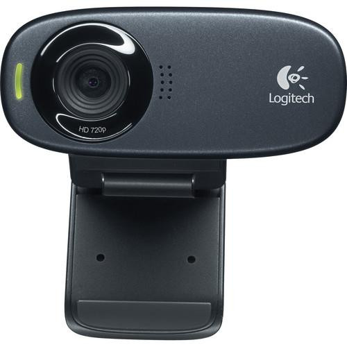 Logitech C310 HD Webcam - Black - USB 2.0