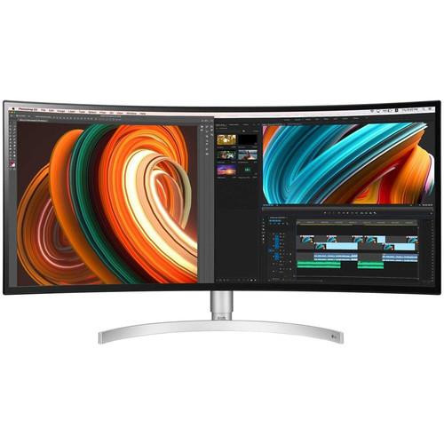 """LG Ultrawide 34BK95C-W 34"""" UW-QHD Curved Screen LCD Monitor - 21:9 - White"""