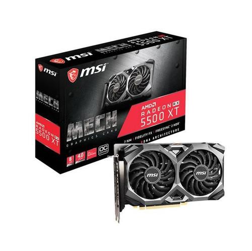 MSI MECH Radeon RX 5500 XT R5500XTM8C 8G OC Graphic Card - 8 GB GDDR6
