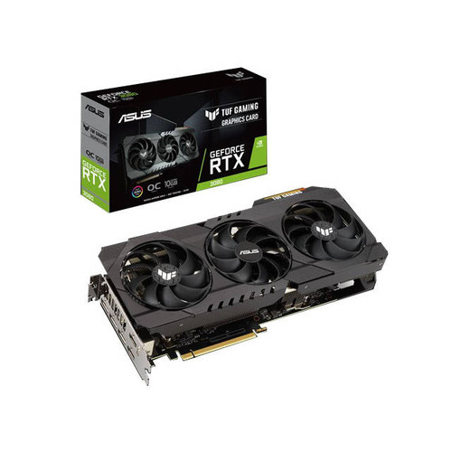ASUS TUF NVIDIA GeForce RTX 3080 OC Edition 10GB GDDR6X 2HDMI/3DisplayPort PCI-Express 4.0 Gaming Video Card