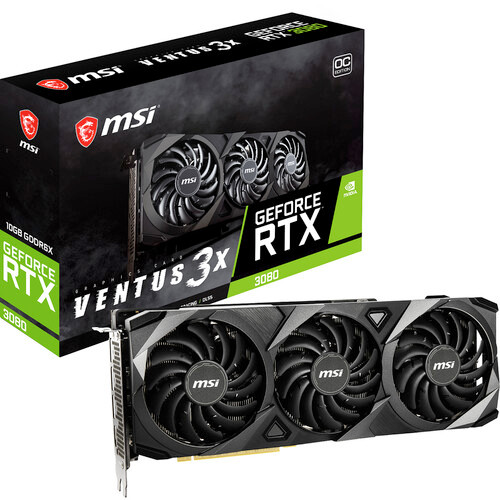 MSI VENTUS GeForce RTX 3080 GAMING X TRIO G3080V3X10C 10G GeForce RTX 3080 Graphic Card - 10 GB GDDR6X