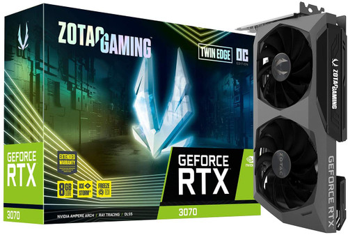 ZOTAC GAMING NVIDIA GeForce RTX 3070 Twin Edge OC 8GB GDDR6 ZT-A30700H-10P Video Card