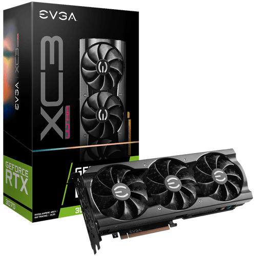 EVGA GeForce RTX 3070 XC3 ULTRA GAMING Graphics Card - 08G-P5-3755-KR - 8GB GDDR6 - iCX3 Cooling - ARGB LED -Metal Backplate