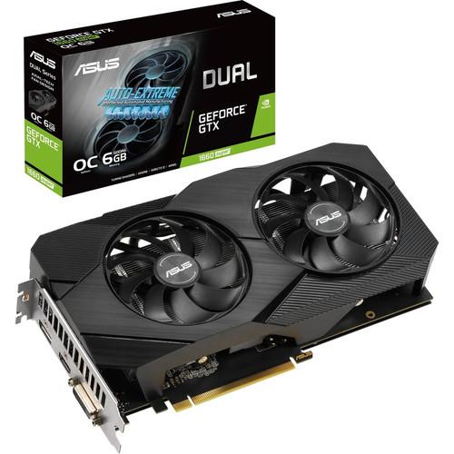 Asus Dual DUAL-GTX1660S-O6G-EVO GeForce GTX 1660 SUPER Graphic Card