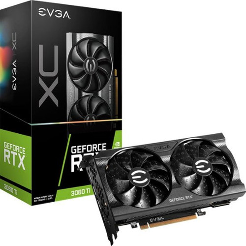 EVGA GeForce RTX 3060 Ti XC GAMING, 08G-P5-3663-KR, 8GB GDDR6, Dual-Fan, Metal Backplate Video Card