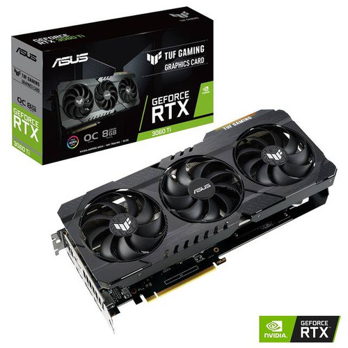 ASUS TUF Gaming NVIDIA GeForce RTX 3060 Ti OC TUF-RTX3060TI-O8G-GAMING Edition 8GB GDDR6 2HDMI/3DisplayPort PCI-Express 4.0 Video Card